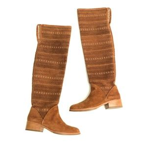 Donald J Pliner Thigh High Suede Leather Boots